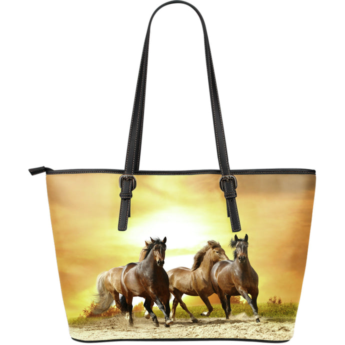 Wild Runners Large Leather Tote Bag