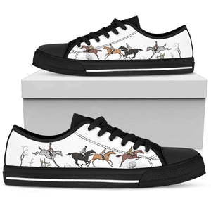 Horse Riders - Black Women's Low Top Shoes