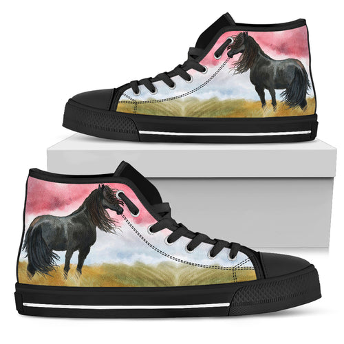Wild Black Women's High Top Shoes