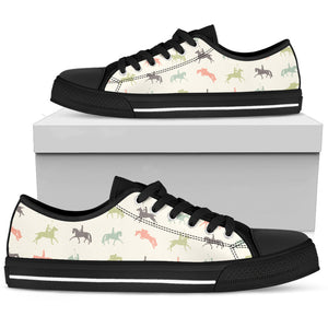 Colorful Horse Riders Women's Low Top Shoes