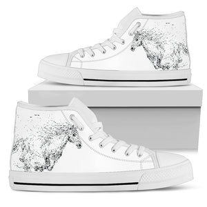 Shadow Runner- White Women's High Top Shoes