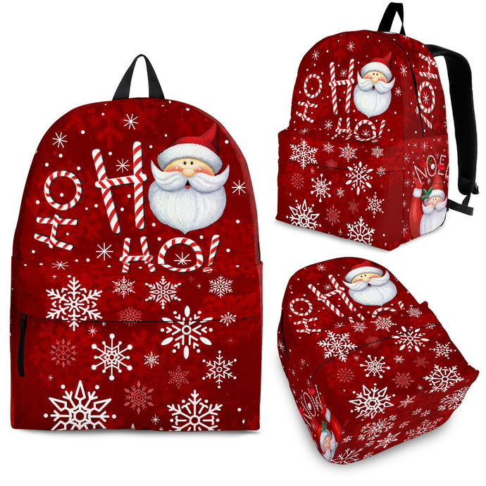 HO HO HO Red Christmas Backpack