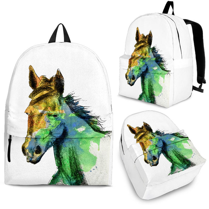 White Loner Horse Backpack