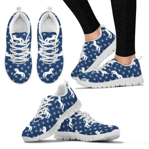 Snow Flakes Horses Women's Sneakers