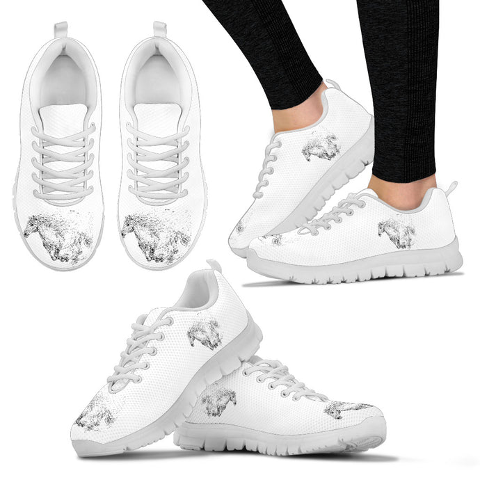 Shadow Runner - White Women's Sneakers