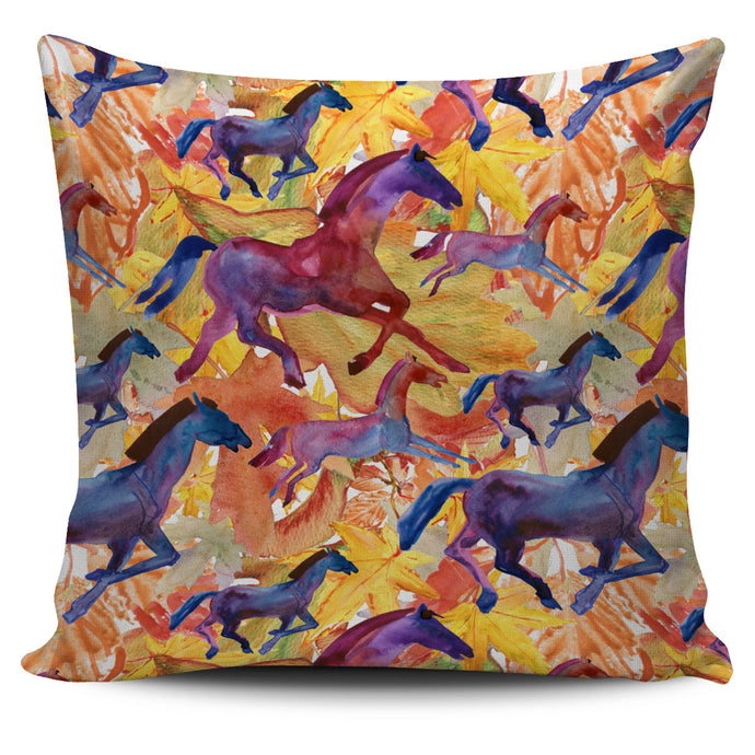 Abstract Running Horse Pillow Cover
