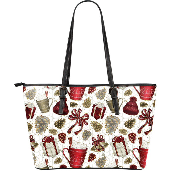Gifts and Bells Christmas Large Tote