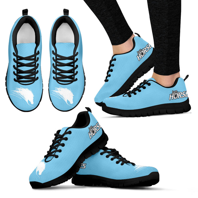 Love Horse - Blue Women's Sneakers