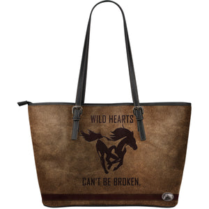 Wild Hearts Large Leather Tote Bag