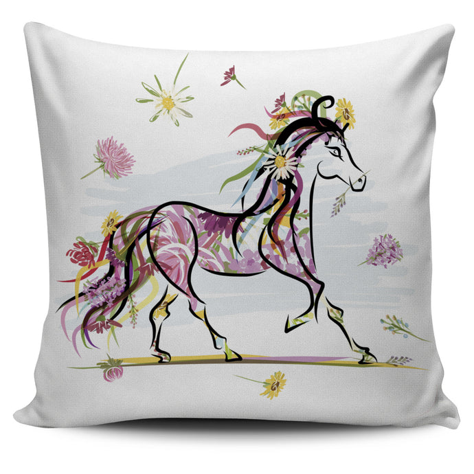Beautiful Modeling Horse Pillow Cover