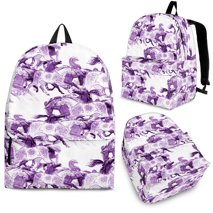 Running Purple Backpack