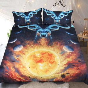 Bed set with majestic Deer Celestial by JoJoes Art