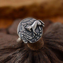 Horse 925 Silver Journey Home Ring