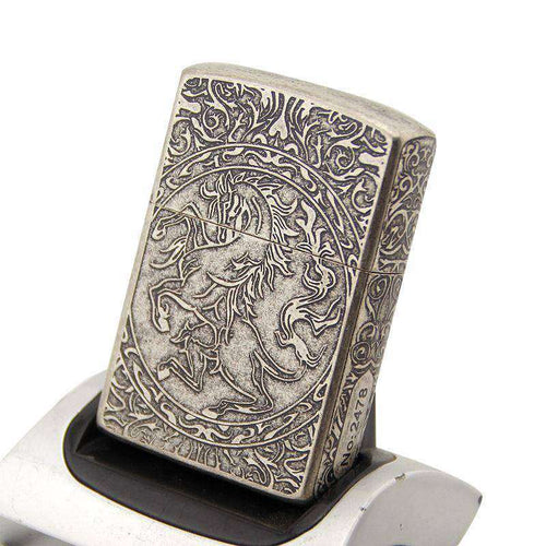 Victorian Silver Horse Lighter - American Horse