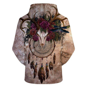 Skull Dreamcatcher by Sunima Art - American Horse