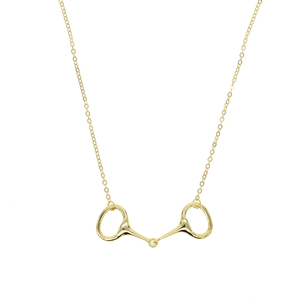 Snaffle Bit Pendant Necklace