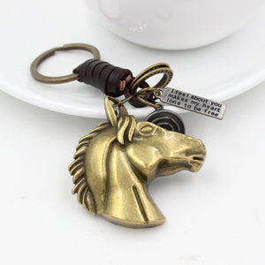 Copper Horse Head Keychain