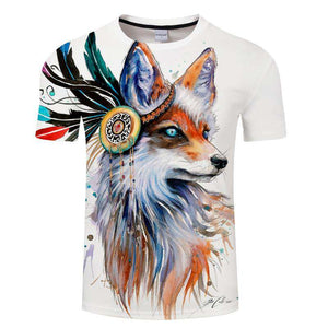 Tribal Fox by Pixie Cold Art - American Horse
