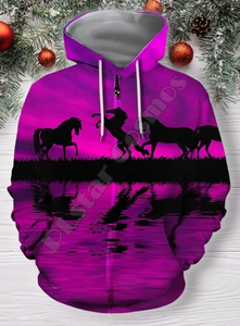 Colorful Horse Hoodie/Sweatshirt/Jacket
