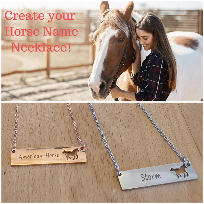 Special Gentle Customized Horse Necklace