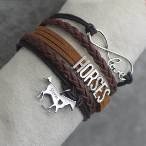 Infinity Customized Horse Name Bracelet (4 Colors)