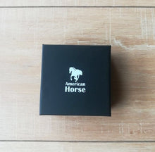Black Gift Box With American Horse Logo