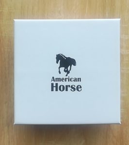 White Gift Box With American Horse Logo