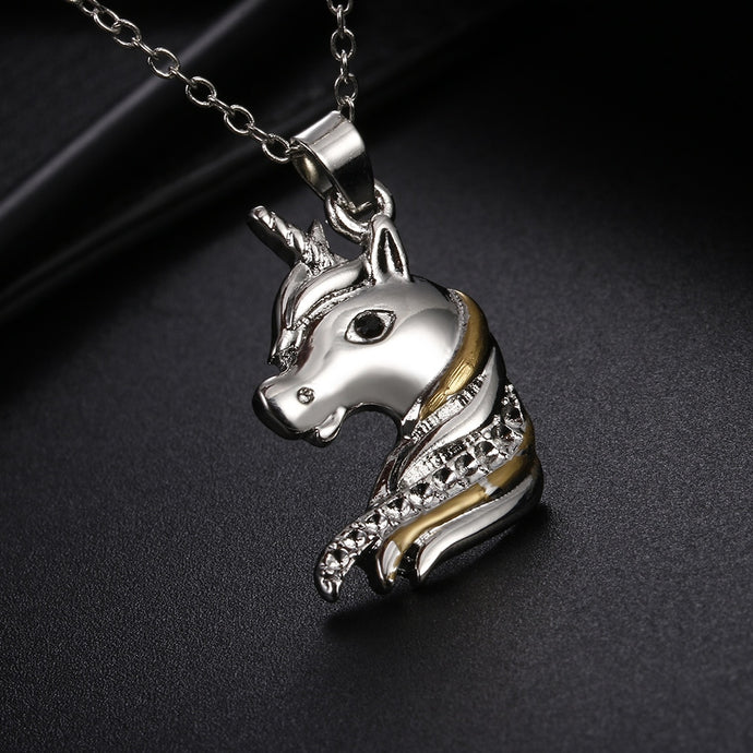 Bohemia Ethnic Unicorn Horse Necklace
