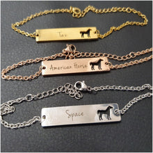 Gentle Customized Horse Bracelet