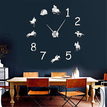 Rodeo Horse Riding Large Wall Clock