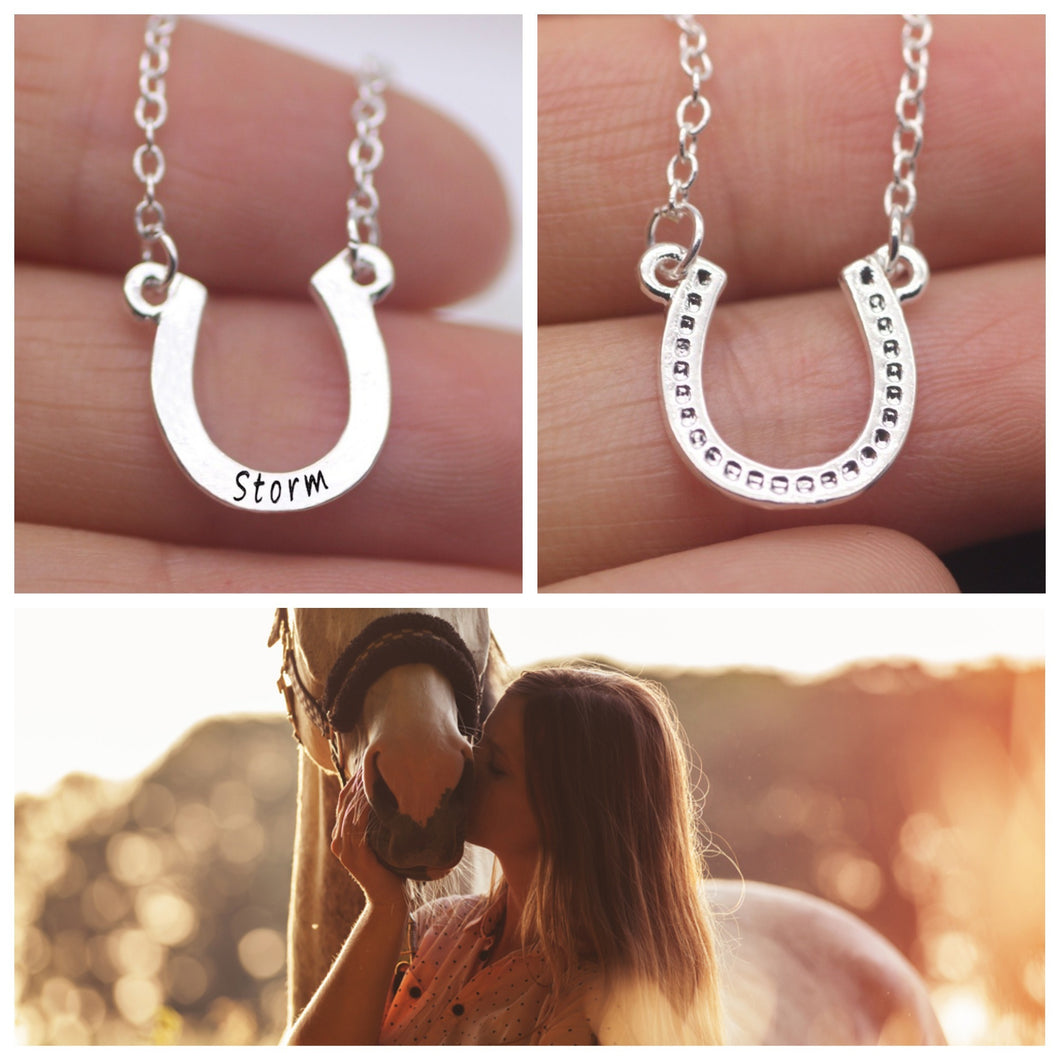 Beautiful Customize Horseshoe Necklace