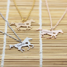 Beautiful Customized Horse Name Necklace
