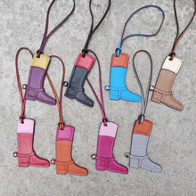 PU Leather Boots Keychain