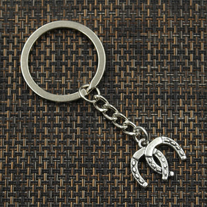 Double Lucky Horseshoe Keychain