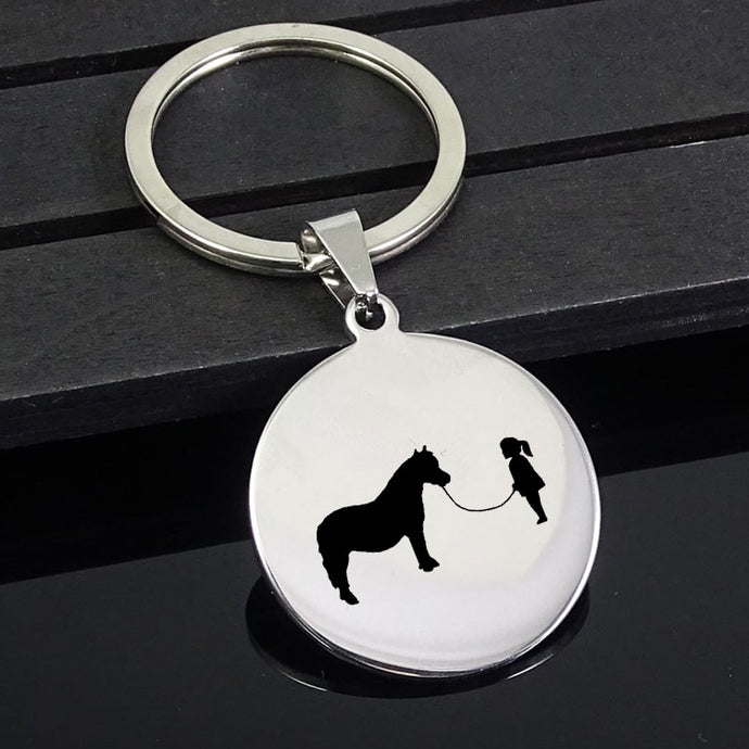 Lovely Girl - Mini Horse Keychain