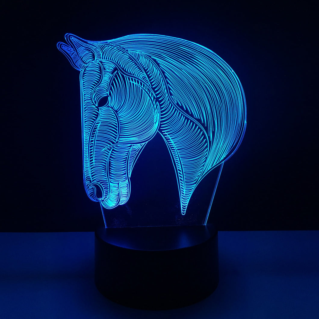 Novelty USB Horse LED 3D Table Lamp