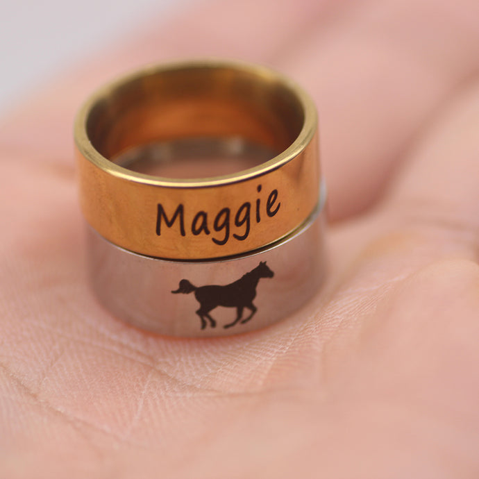 Beautiful Customized Horse Name Ring