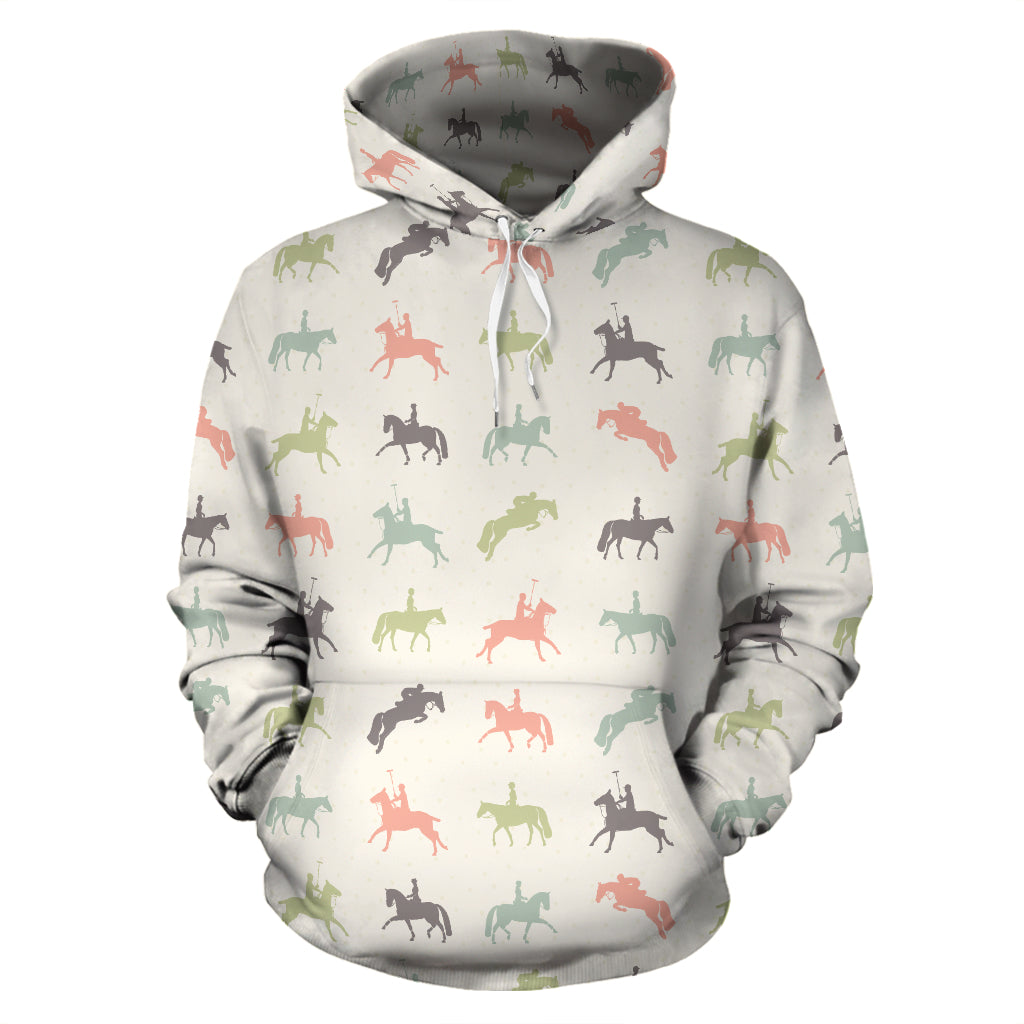 Colorful Horse Riders Hoodies