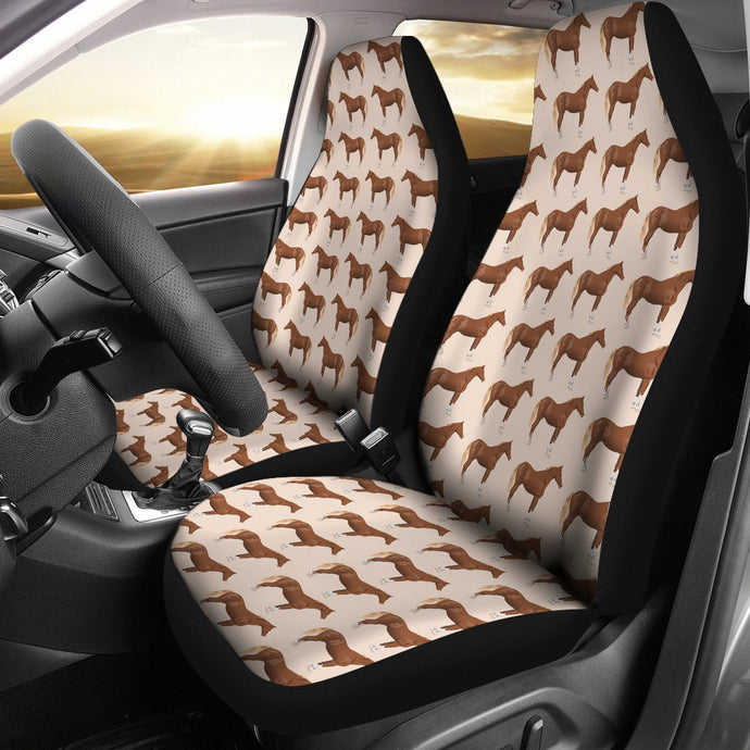 Brown Horses Car Seat Cover