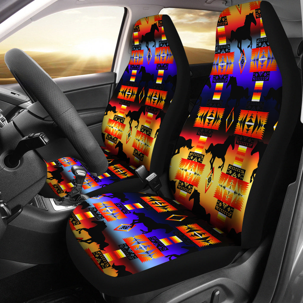 Seven Tribe Horses Car Seat Covers