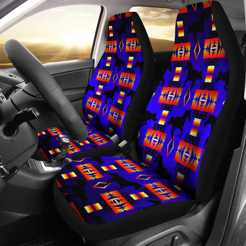 Blue Tribe Horses Car Seat Covers