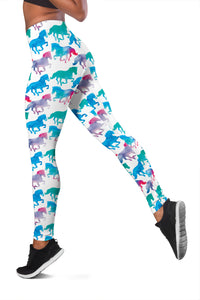 Blue Pink Runners Leggings