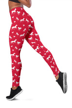 Red Galloping Horses Leggings