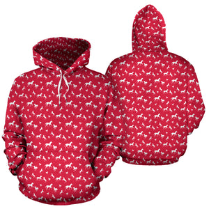 Red Marching Horses Hoodies