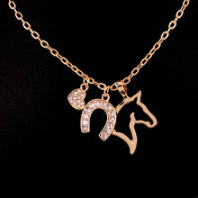 Horseshoe Horse Pendant Necklace
