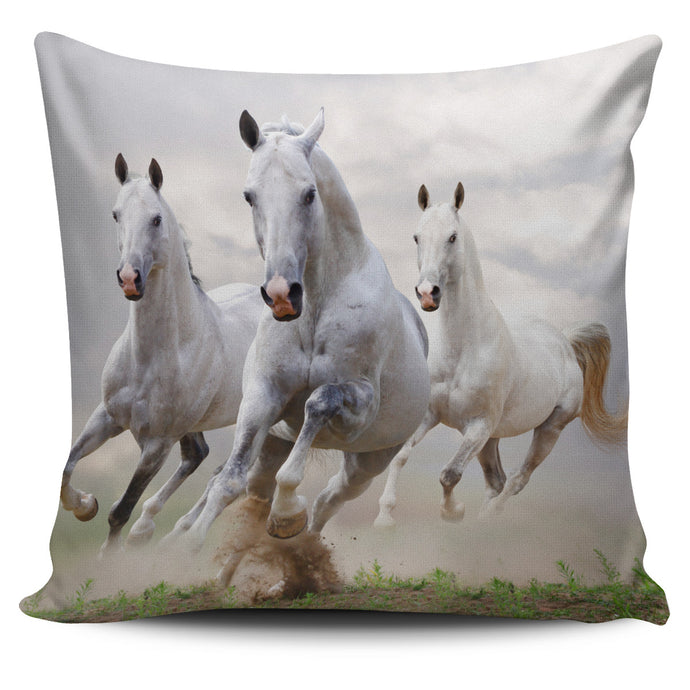 White Runners Pillow Cover