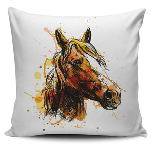 Artistic Horse Head Pillow Cover