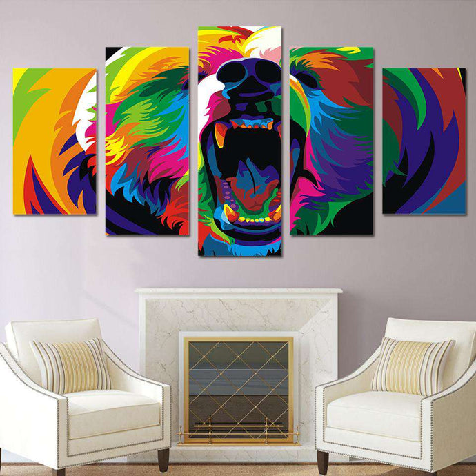 art with roaring Bear