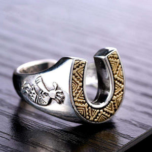 Horse 925 Silver Chief's Ring