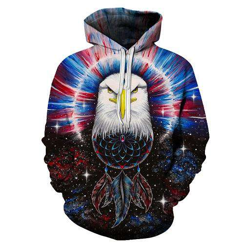 hoodie with powerful Eagle